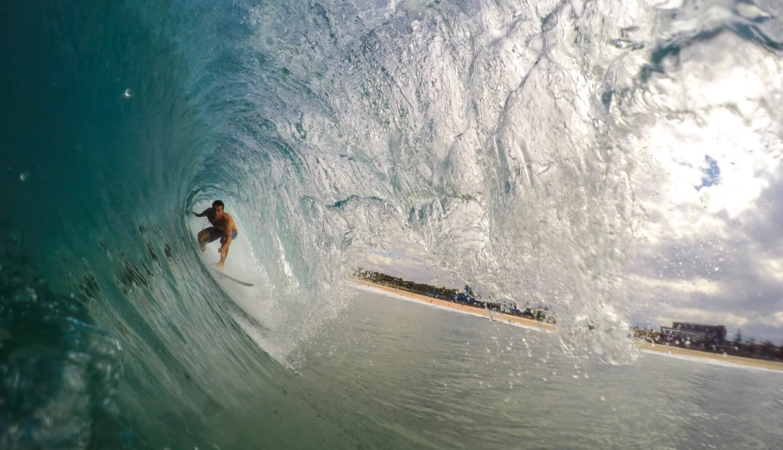 Yogaurlaub und Surfen
