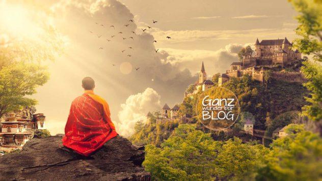 Mönch beim Meditieren