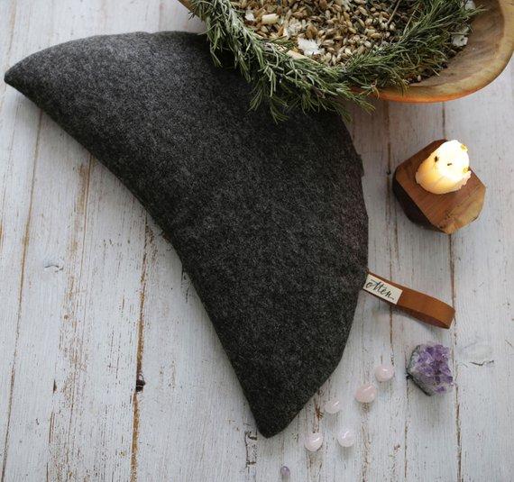 Yogamondkissen aus Wollfilz, Meditationskissen Sitzkissen, Yoga