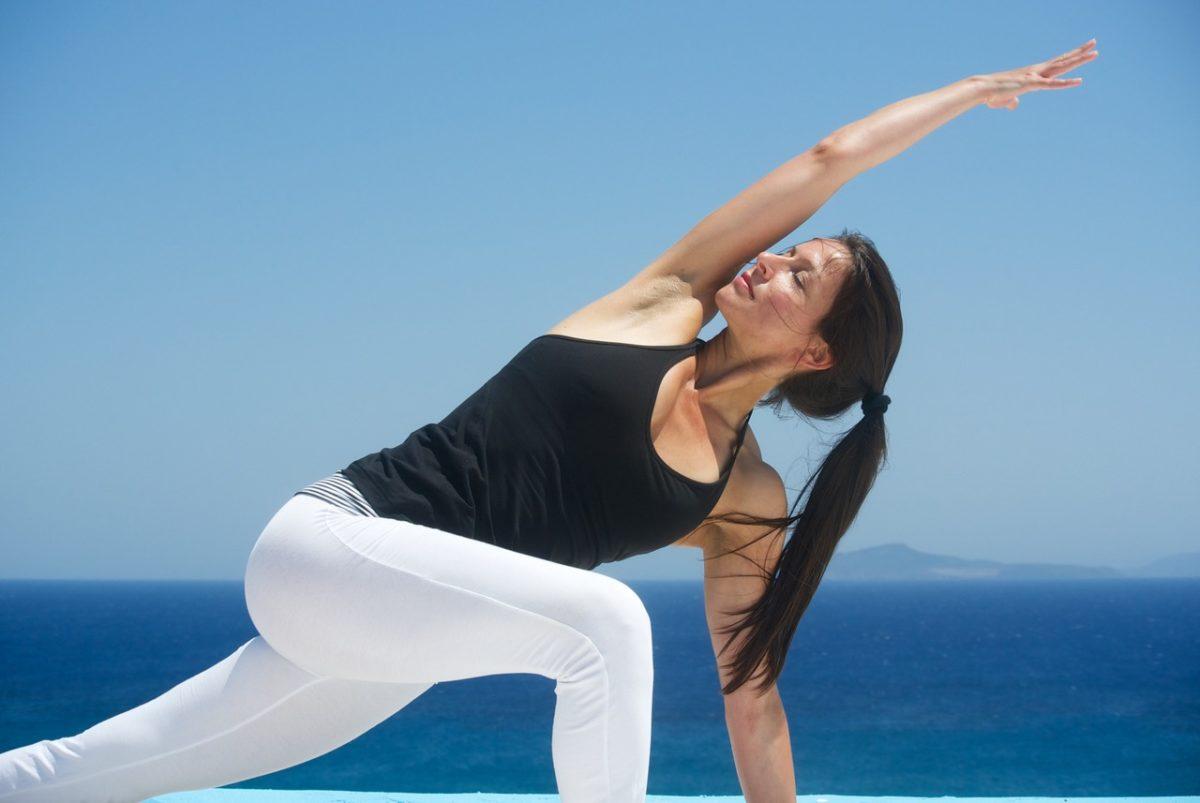 Yogalehrerin Veronika Freitag